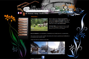 Site internet - Les Chabottes