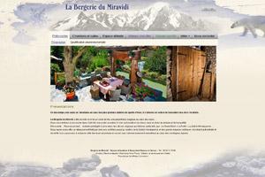 Site internet - La Bergerie du Miravidi