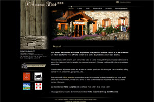 Site internet - Hôtel Autantic