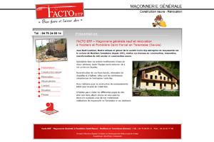 Site internet - Facto BTP