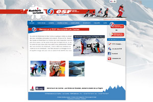 Site internet - ESF Montchavin Les Coches