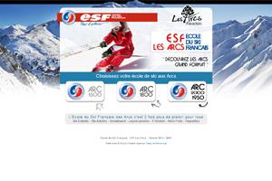Site internet ESF Les Arcs