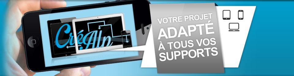 Votre site internet adapté pour tous supports mobiles - Agence web et communication en Savoie : Créalp
