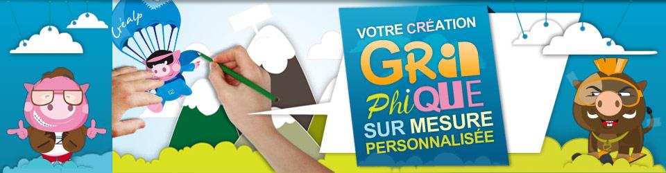 Création graphique sur mesure - Agence de communication en Savoie : Créalp