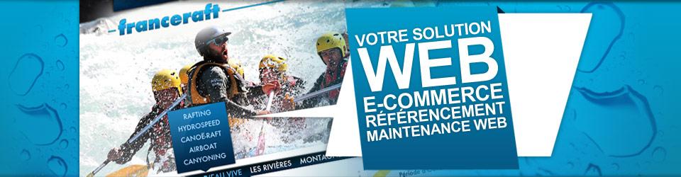 Solution Web, E-commerce, Référencement, Maintenance - Agence web et communication en Savoie : Créalp