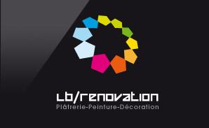 Créalp réalise le logo de LB Rénovation : Plâtrerie - Peinture - Décoration à Lyon