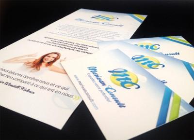 Création de cartes de visite et flyers