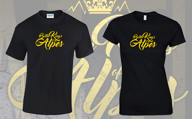 Sérigraphie t-shirts Battle Kings of the Alpes