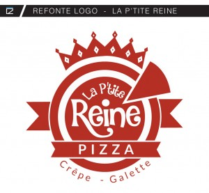 Refonte logo La P'tite Reine