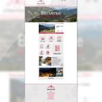 Page d'accueil du site de La Plagne Tarentaise