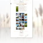 Page intérieur du site Le Mas Montredon avec galerie