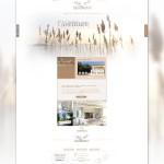 Première page d'accueil du site Le Mas Montredon